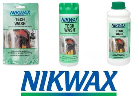 Nikwax Tech Wash Non-Detergent Cleaner 100ml / 300ml / 1 Litre