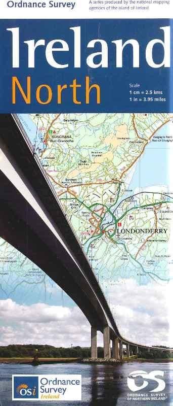 Ordnance Survey Map - Ireland - North. 1:25000