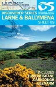 Ordnance Survey Map : Larne / Ballymena  - No.9, 1: 50000