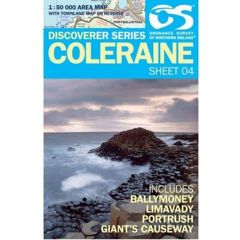 Ordnance Survey Map - No: 4 Coleraine, 1:50000 Scale