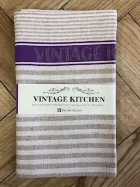 Samuel Lamont Vintage Kitchen XL Tea Towel-Natural Unbleached Linen Union Glass Cloth