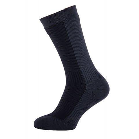 Sealskinz Unisex Hiking Mid Mid Waterproof Socks - Black / Grey - Windproof