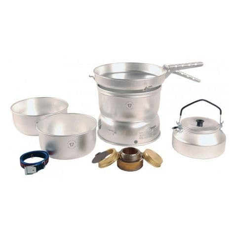 Trangia 25-2UL UL Aluminium Pans Spirit Burner Stove and Cookset with Kettle