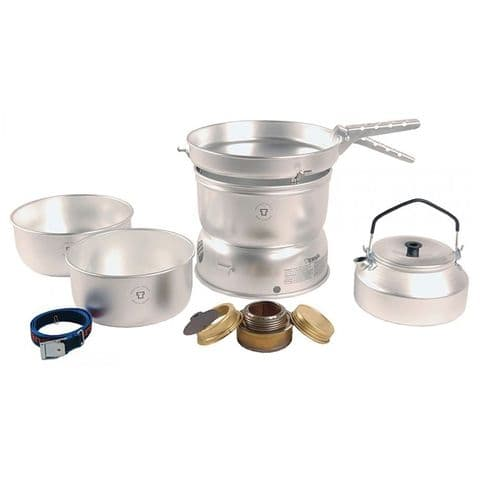 Trangia 27-2UL Alloy Camping Pans Spirit Burner Stove and Cookset with Kettle