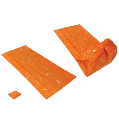 Trekmates Orange Bivi Bag - Durable Plastic - 2 person