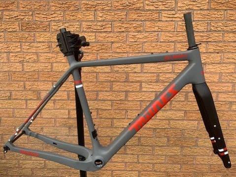 Milnes All Road C Carbon Road Frame Fork Frameset 700C 650B Mudguard Eyes Red