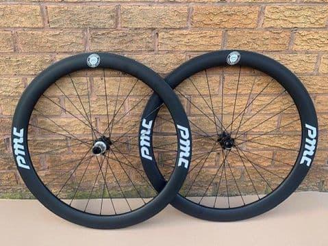 PMC 50mm Carbon Disc Tubular 700c Wheelset wheels 11 SPD UCI Bolt Through PMC