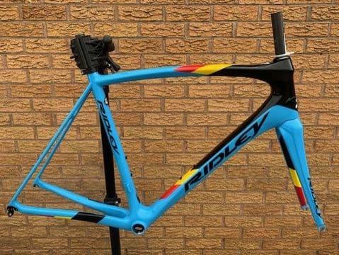 Ridley Fenix SL Rim Brake Carbon Road Bike Frameset Frame Fork Belgium Blue Ltd Ed