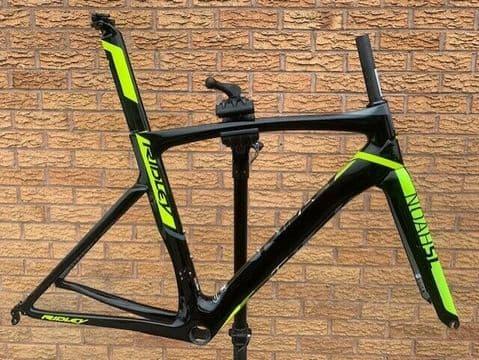 Ridley Noah SL Aero Rim Brake Carbon Road Bike Frameset Black Yellow - Medium