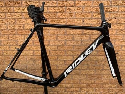 Ridley X-Night SL Carbon Cyclocross Bike Frameset Canti Brake - Black / White