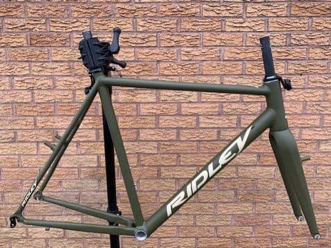 Ridley X-Ride Cyclocross Frameset Alloy Frame Carbon Fork Green - 56cm