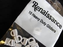 10 Renaissance heavy duty curtain track gliders runners hooks 1.1 x 0.5 x 1.1cm