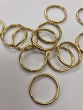 10 Small curtain split rings 20mm Roman blind cord repair