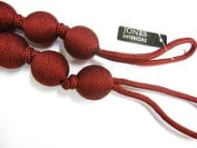 2 Ball String Henley Curtain Tiebacks Claret Traditional Tie Backs 84cm long