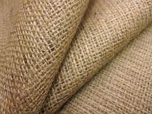 "5 mt of Natural hessian jute sack fabric 40""w  upholstery or garden use"
