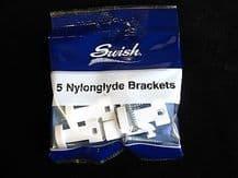5 Swish Nylonglyde curtain track brackets - Twinglyde Nylon glyde glide supports