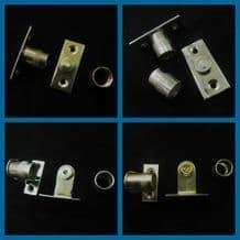 Curtain rod sockets Brackets for 12mm diameter net rods tube in Chrome and brass
