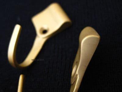 Curtain tassel tieback hooks  Metal wall hook  Per pair