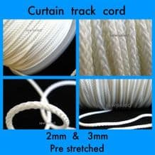 Curtain track cord - 2mm and 3mm Diameter Option