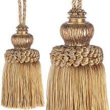 Large Gold Key Tassel -  Jones Interiors Florentine Christmas Xmas Cotton Trim