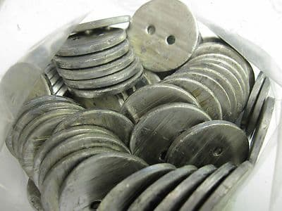 Lead Penny Curtain Weights - Sewing workroom 14g sew in hem weight - 10 - Bulk