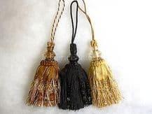 Luxury key tassel - Decorative ribbon and bead curtain trim. Door trimming 28cm