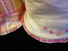 M&S Reversible baby's hat NEW Cool girls summer sun protection Petit Bebe shade