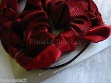 Mothercare burgundy red velour headband & scrunchie hair set Wedding bridesmaid
