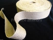 "Reel of STRONG jute upholstery chair webbing roll seat seating tape - 33mt 2"" w"