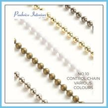 Roller Blind Chain Continuous Loop & Cut Length Roman Nickel Brass White Silver
