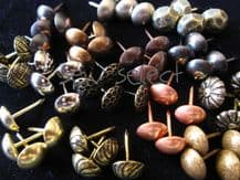 Upholstery nails - SELECT COLOUR QUANTITY HERE - Chair furniture tacks studs Craft supplies