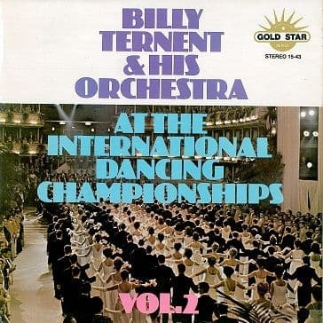 BILLY TERNENT At The International Dancing Championships Vol. 2 LP Vinyl Record Album Gold Star 1975