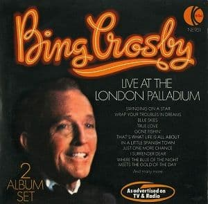 BING CROSBY Live At The London Palladium Vinyl Record LP K-Tel 1976