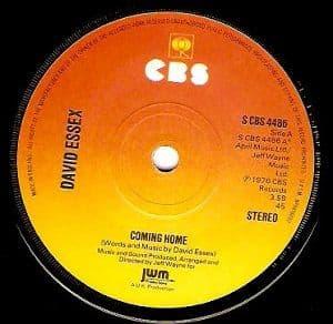 DAVID ESSEX Coming Home Vinyl Record 7 Inch CBS 1976