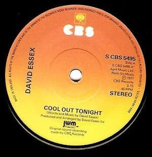 DAVID ESSEX Cool Out Tonight Vinyl Record 7 Inch CBS 1977