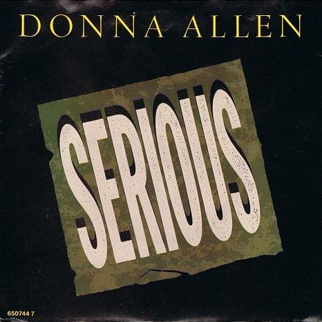 "DONNA ALLEN Serious 7"" Single Vinyl Record 45rpm Portrait 1986"