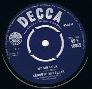 KENNETH McKELLAR My Ain Folk Vinyl Record 7 Inch Decca 1955
