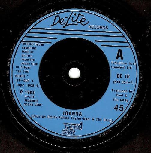 KOOL AND THE GANG Joanna Vinyl Record 7 Inch De-Lite 1983