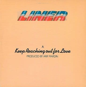 "LINER Keep Reaching Out For Love 12"" Single Vinyl Record Atlantic 1979"