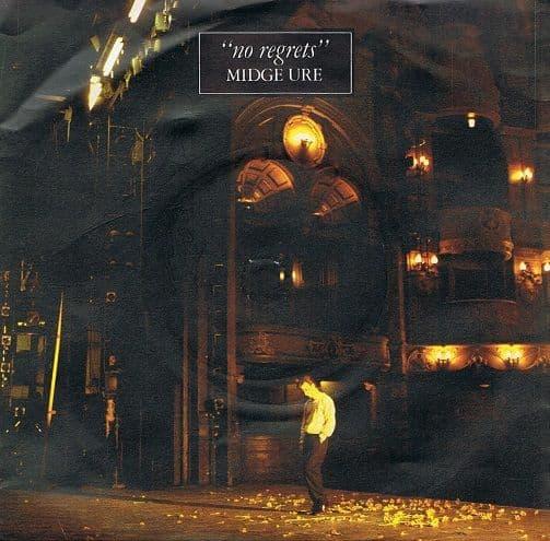 MIDGE URE No Regrets Vinyl Record 7 Inch Chrysalis 1982
