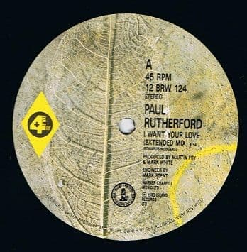 PAUL RUTHERFORD I Want Your Love (Extended Mix) 12