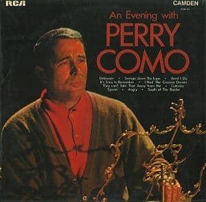 PERRY COMO An Evening With Perry Como Vinyl Record LP RCA Camden 1970