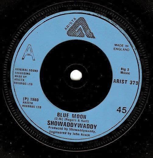 SHOWADDYWADDY Blue Moon Vinyl Record 7 Inch Arista 1980