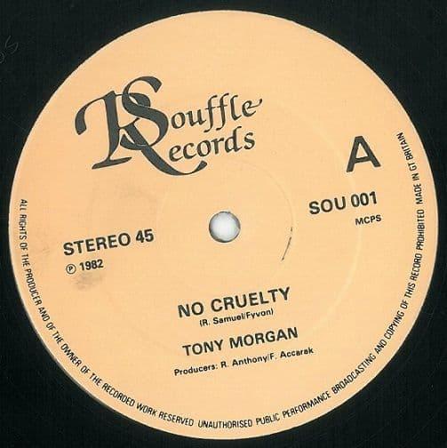 TONY MORGAN No Cruelty Vinyl Record 12 Inch Souffle 1982