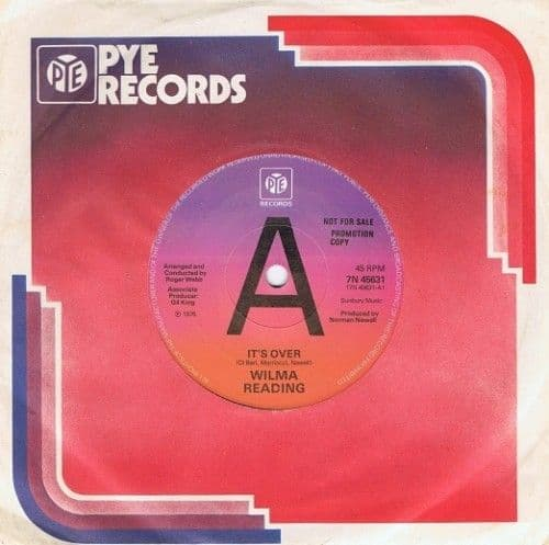 "WILMA READING It's Over 7"" Single Vinyl Record 45rpm PROMO Pye 1976"