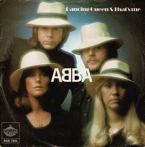 ABBA Dancing Queen Vinyl Record 7 Inch Swedish Polar 1976