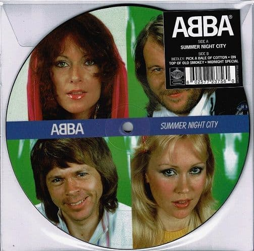 ABBA Summer Night City Vinyl Record 7 Inch Polar 2019 Picture Disc
