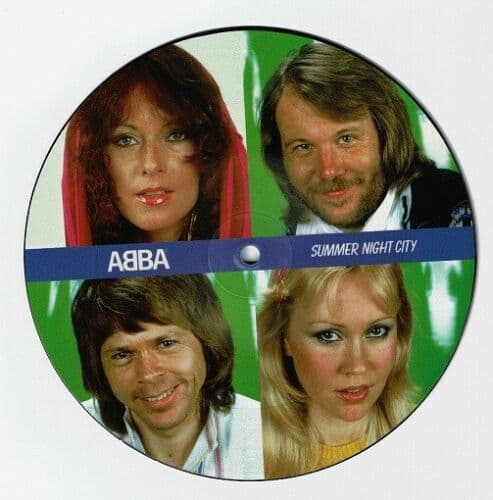 ABBA Summer Night City Vinyl Record 7 Inch Polar 2019 Picture Disc.