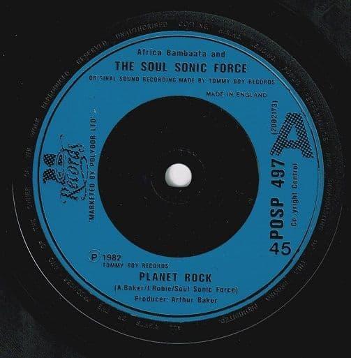 AFRIKA BAMBAATAA & SOULSONIC FORCE Planet Rock Vinyl Record 7 Inch 21 Records 1982
