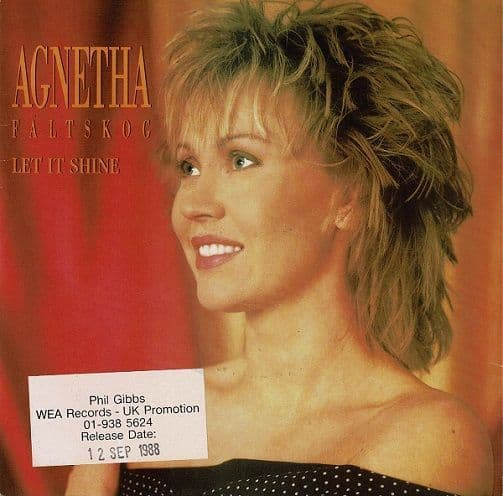AGNETHA FALTSKOG Let It Shine Vinyl Record 7 Inch WEA 1988 Promo